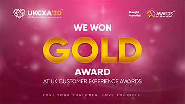 UK CXA 2020 - Gold Award